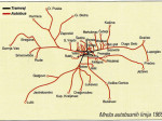 Mreža autobusnih linija ZET-a 1965. godine - preneseno iz Monografije ZET-a