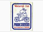 Kartončić s likom Grge (autor Ico Voljevica) kao identifikacija sudionika s jedne od biciklijada [VR 1988.]