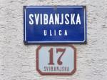 Tabla i klasična kućna numeracija Svibanjske ulice u Gajevom [VR 2014.]