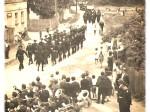 Svečana povorka Vatrogasne milicije na Rudeškoj cesti (oko 1955.)
