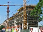 Rana faza gradnje HoTo tornja na mjestu bivše Tvornice dječje obuće na Savskoj cesti [GP 2003.]