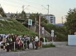 Sudionici šetnje kod izlaza Nove ceste na Savsku cestu [GP 2014.]