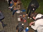 Lampioni, napolitanke, čokolade, kolač i kuhano vino na odmorištu uz Macanovićevu ulicu [MS 2014.]