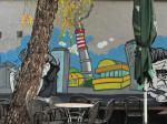 """Oslikani zid uz otvorenu terasu kafića """"No sikiriki"""" [GP 2014.]"""