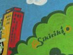 """Detalj oslikanog zida uz otvorenu terasu kafića """"No sikiriki"""" [GP 2014.]"""