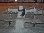 Snjegović na klupi u Prečkom [LD 2014.]