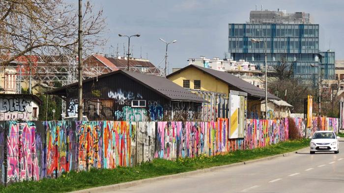 Najdulji trešnjevački zid: Južna strana Zapadnog kolodvora