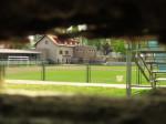 """Igralište """"NK Trešnjevka"""" kroz rupu u betonskoj ogradi sa strane Veprinačke ulice [GP 2015.]"""