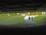 Neiskorišten prostor ispod Jadranskog mosta tik do tramvajskog okretišta Savski most [GP 2015.]