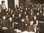 """B-razred u Osnovnoj školi """"Braće Ribar"""" krajem 1950-ih [AB]"""