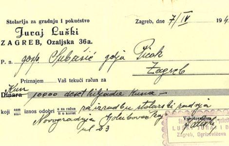 Nastanak kuće – Golubovečka 23 (1941.-1942.)
