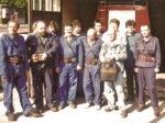 """Vatrogasci DVD """"Trešnjevka"""" prije polaska na vatrogasnu vježbu: 1995. [DVD-T 2000.]"""