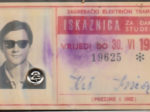 Godišnja studentska (i đačka!) iskaznica ZET-a za 1968. godinu [IK 2020.]