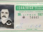 Godišnja studentska (i đačka!) iskaznica ZET-a za 1973. godinu [IK 2020.]