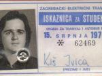 Godišnja studentska iskaznica ZET-a za 1974. godinu [IK 2020.]