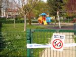"""""""Zatvoreno"""" dječje igralište u Parku Stara Trešnjevka zbog prevencije širenja epidemije COVID-19 [GP 2020.]"""
