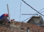 Sanacija oštećenog dimnjaka nakon potresa (22.3.2020.) u Naselju Istrana i invalida [VR 2020.]