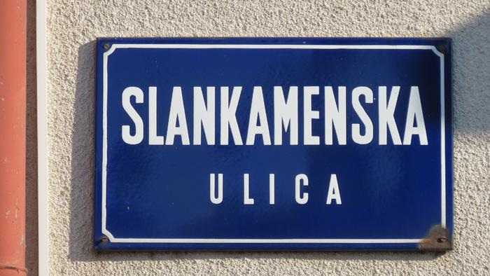 Stara ploča za Slankamensku ulicu u Rudešu [VR 2020.]