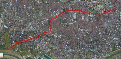 """Trasa virtualne šetnje """"Trešnjevačka dijagonala – bespućima Trešnjevke s kraja na kraj"""""""