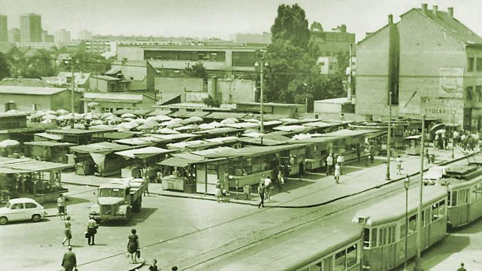 Tržnica Trešnjevka u 60-im godinama 20. stoljeća [web: izvor nepoznat Uredništvu]