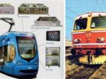 Niskopodni tramvaj serije TMK 2200 (br. TMK 2001) i prototip tiristorske lokomotive 442-001, (HŽ serija 1142)