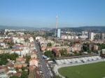 Pogled sa Ciboninog tornja 2012. - pogled prema zapadu, duž Kranjčevićeve ulice [DZ 2012.]