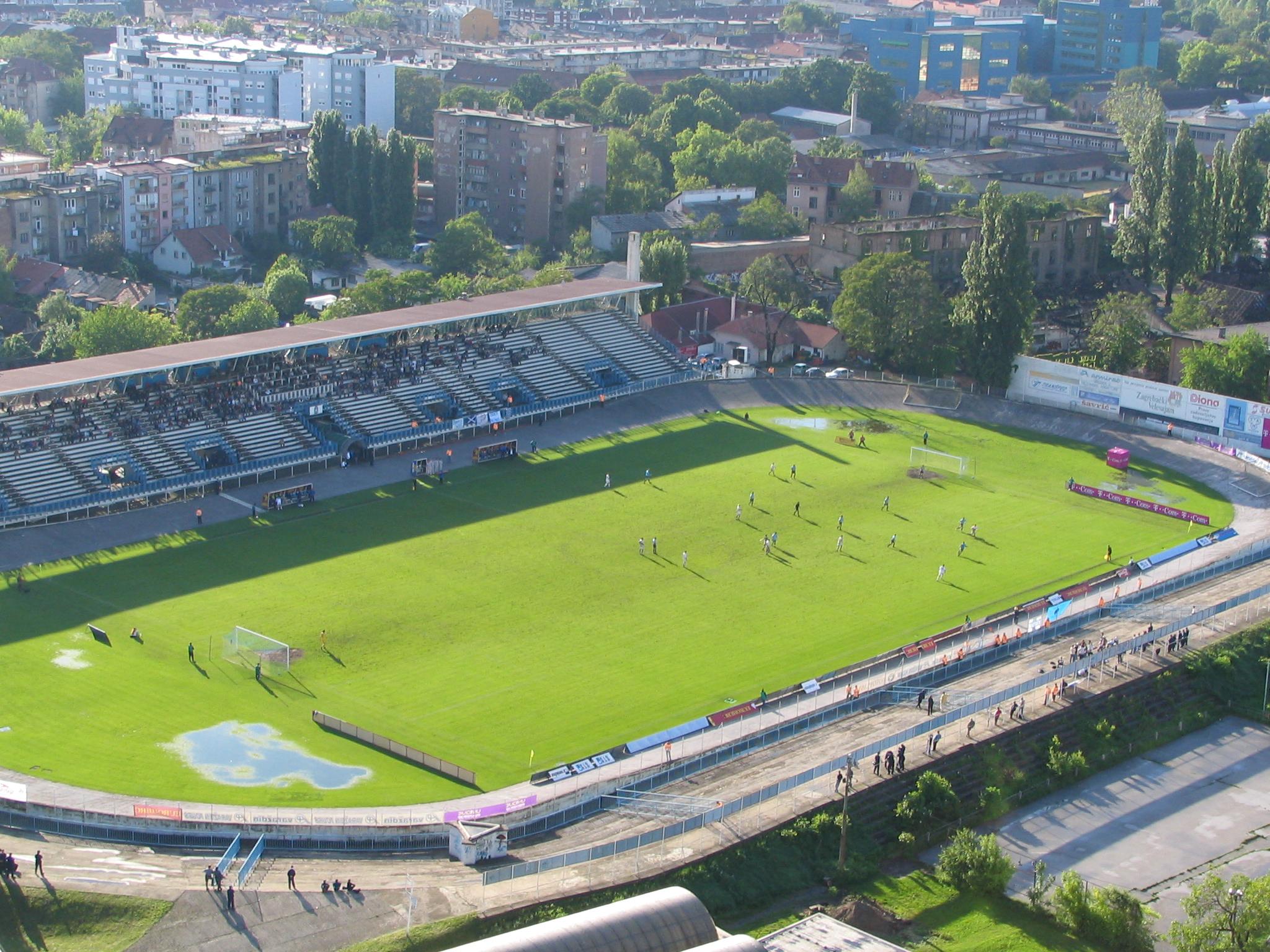 Pogled na utakmicu na stadionu NK Zagreb. [DZ 2012.]