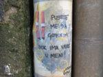 Street art intervencija Antonelle Šantek alias Lutajuće knjige [VR 2020.]