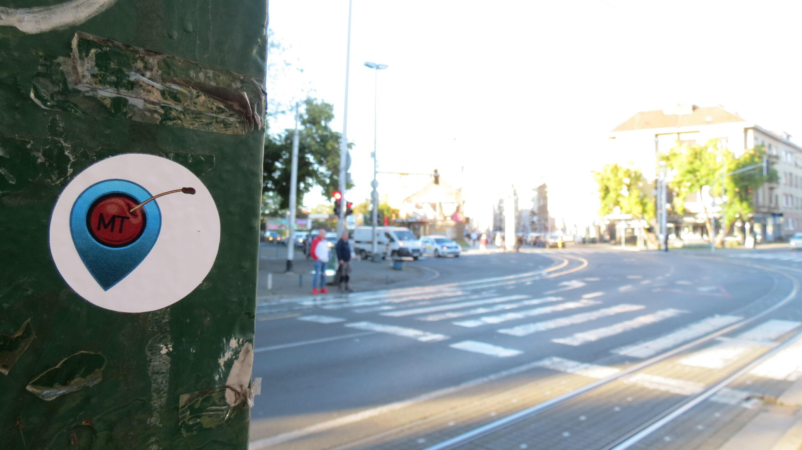 Početak Tratinske ulice gledan od željezničkog nadvožnjaka. [VR 2020.]