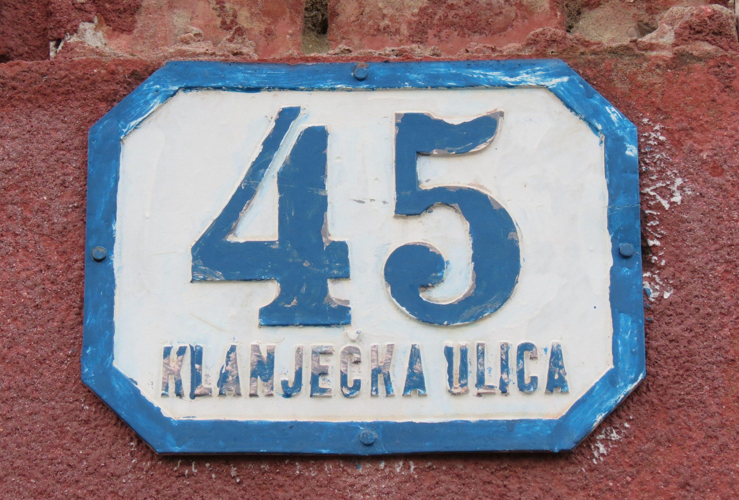 Kućni broj iz predratnog razdoblja sa gradskog područja Trešnjevke [VR 2020.]