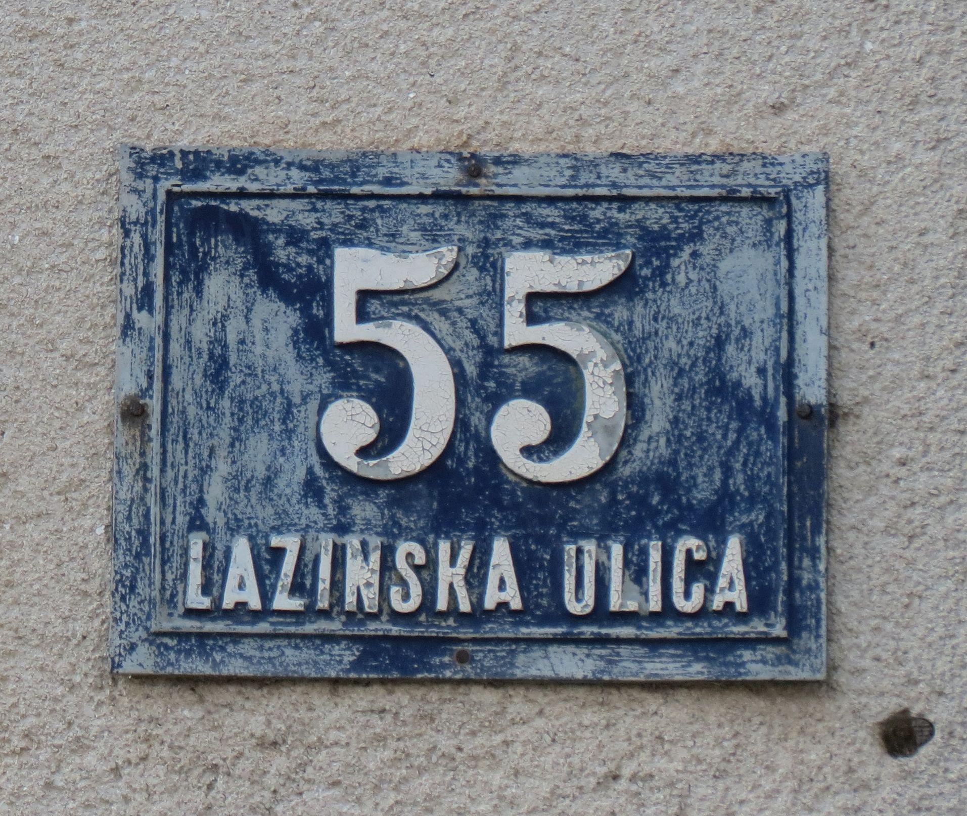 Kućni broj iz predratnog razdoblja sa područja izvan grada Zagreba (Rudeš) [VR 2020.]