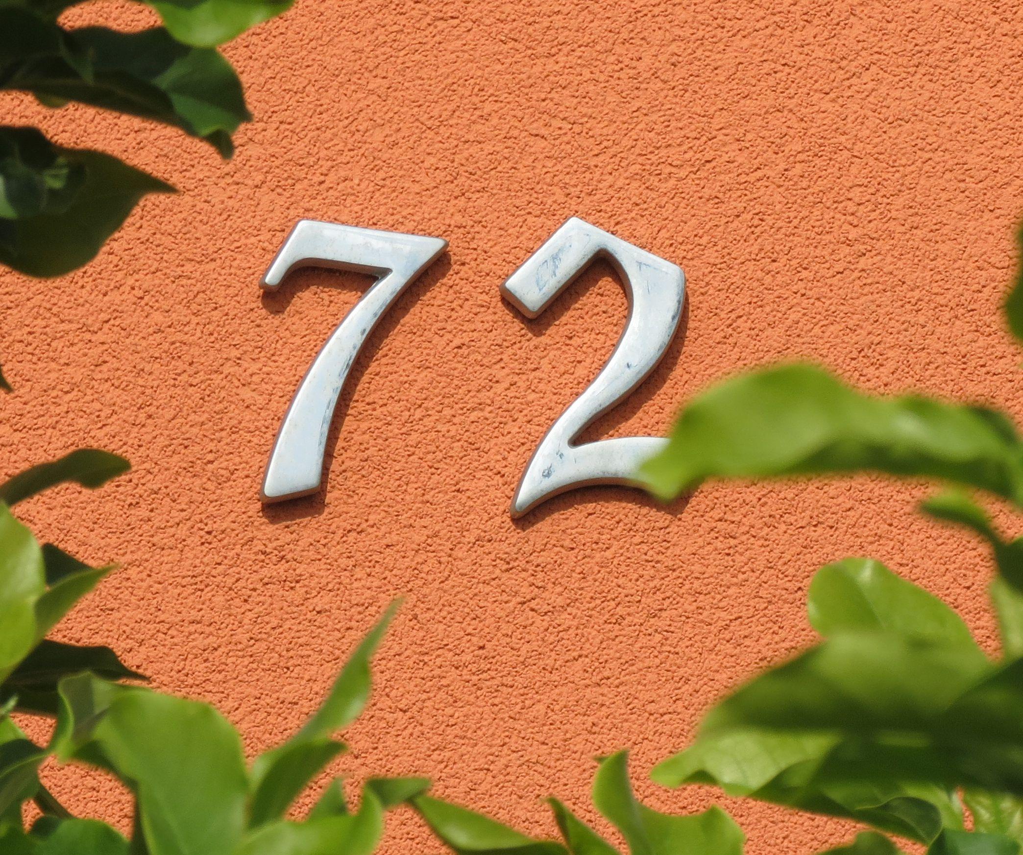 Kućni broj izrađen u masovnoj proizvodnji i kupljen u nekoj od trgovina. [VR 2020.]