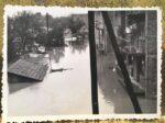 Kraljevička ulica, dvorišna strana, za vrijeme poplave 1964., snimljeno sa prozora Kraljevičke 12 [MB 1964.]