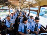 Orkestar u povijesnom turističkom tramvaju, 21.06.2018. povodom manifestacije Svjetski dan glazbe. [LG 2018.]