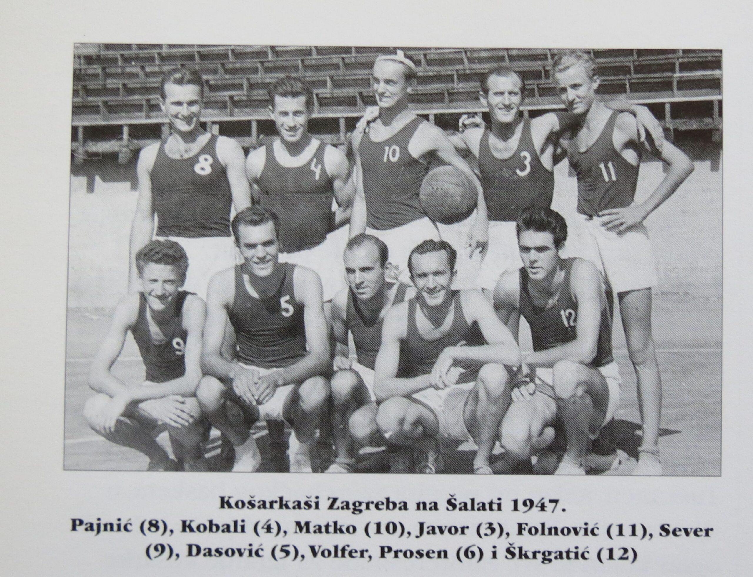 Košarkaši KK Zagreb na Šalati 1947. [CI 1996.]
