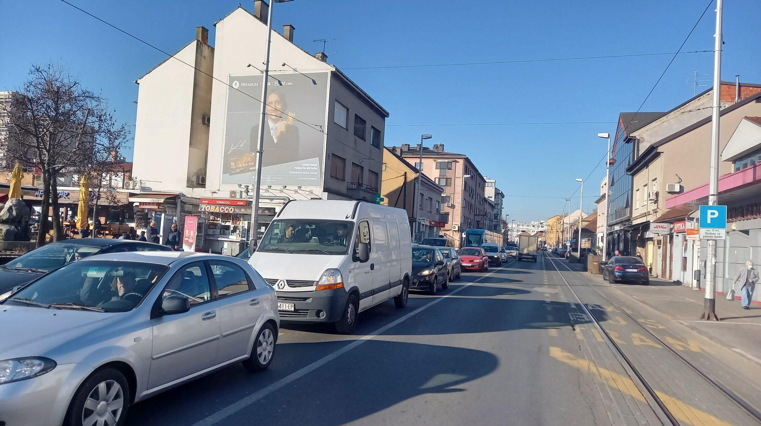 Ozaljska ulica, početkom ožujka 2021.