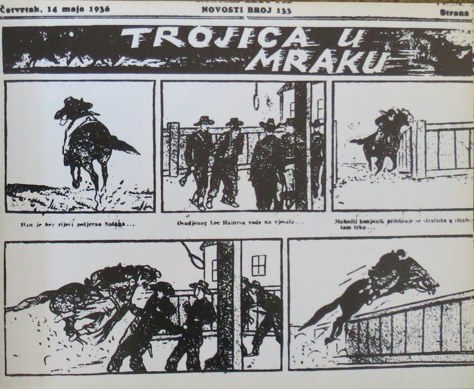 Scena iz stripa Andrije Maurovića